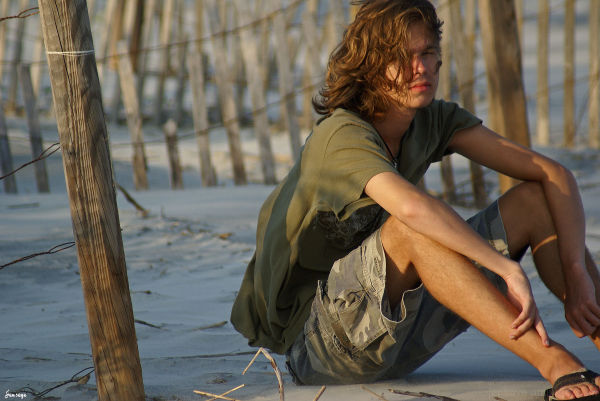 Teenager portrait beach nature sand