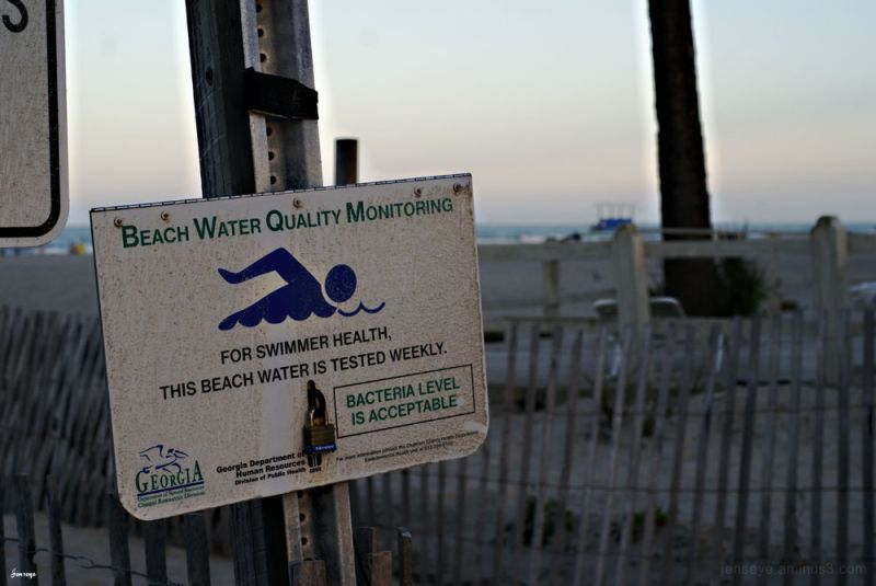 Beach Water Quality Sign Tybee
