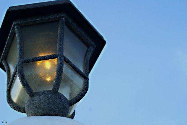 Lamp at Dusk Tybee Island