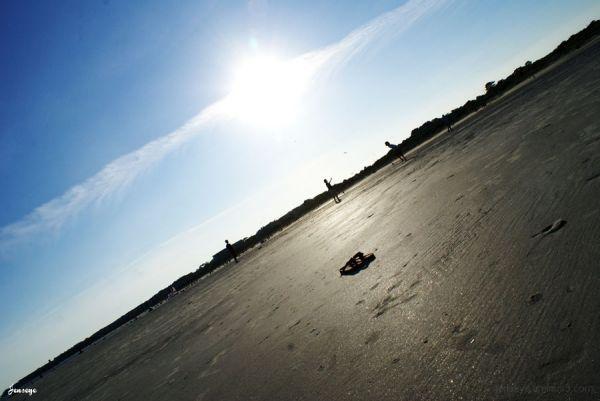 Frisbee Beach Sunset Saint Simons Teenagers