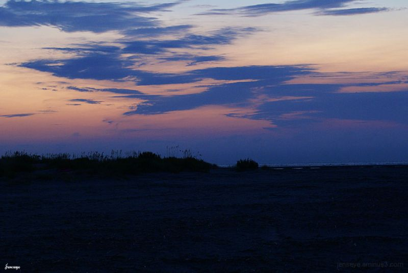 Landscape Sunrise Dawn Blue Orange Beach St Simons