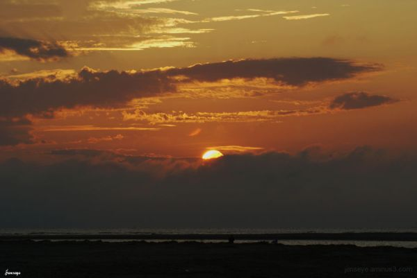 landscape sunrise beach sun orange
