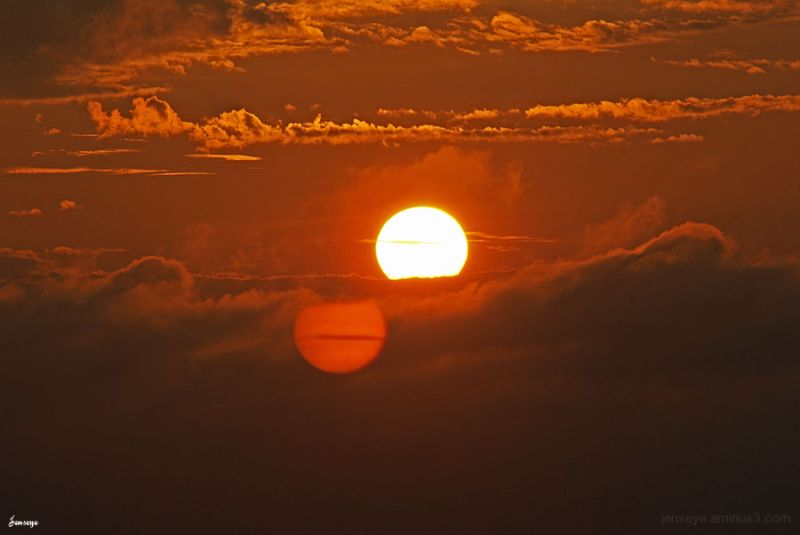 landscape sunrise orange beach saint simons GA