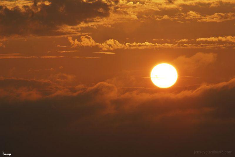 Landscape sun orange clouds saint simons