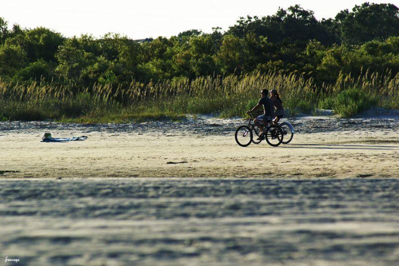Landscape Beach Bikes Sand Dunes Saint Simons