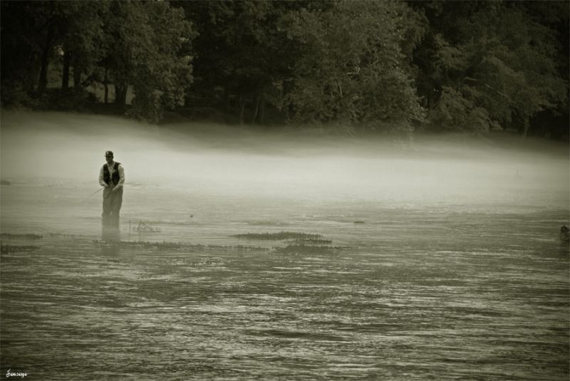 Chattahoochee River Fly Fishing Mist and Fog