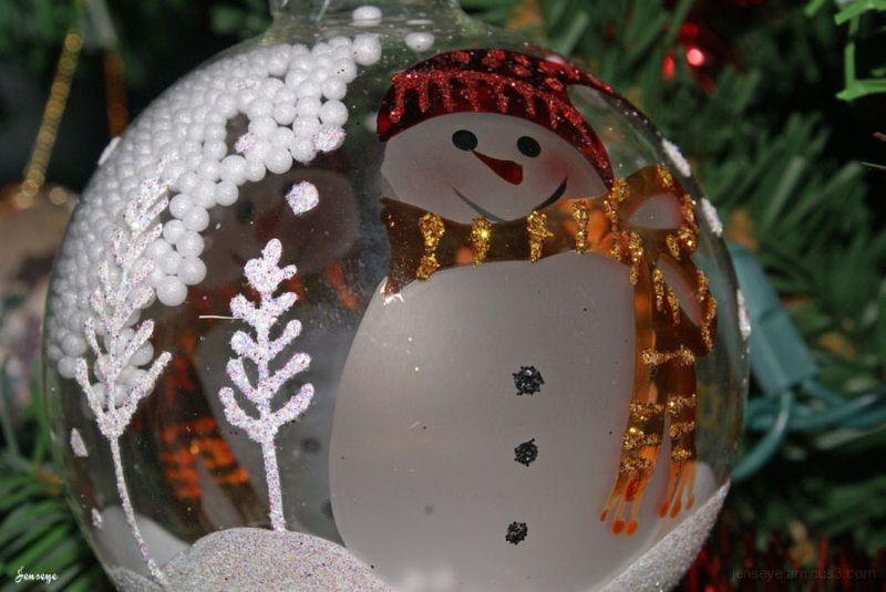 Christmas Ornament Snowman Snow