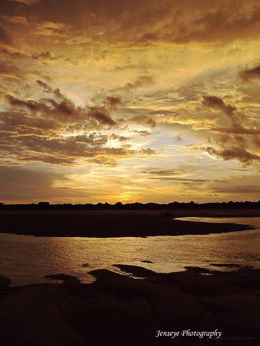 Landscape Sunset Beach St Simons Island Georgia