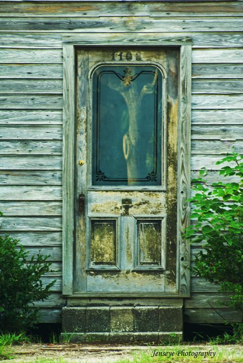 Architecture Wooden Door Hazels Cafe Georgia