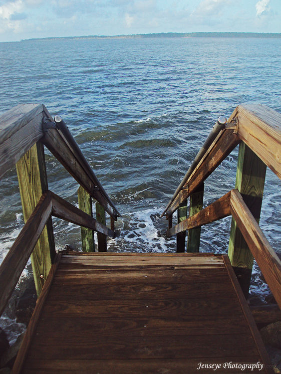 Steps Beach High Tide St Simons