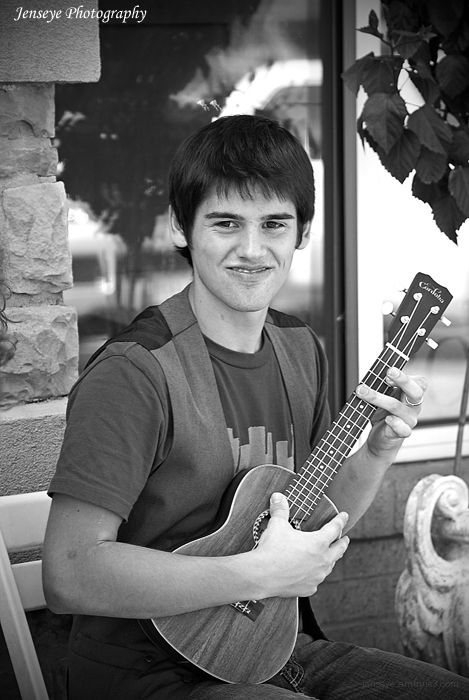 Casual Portrait Teenager Guitar Music