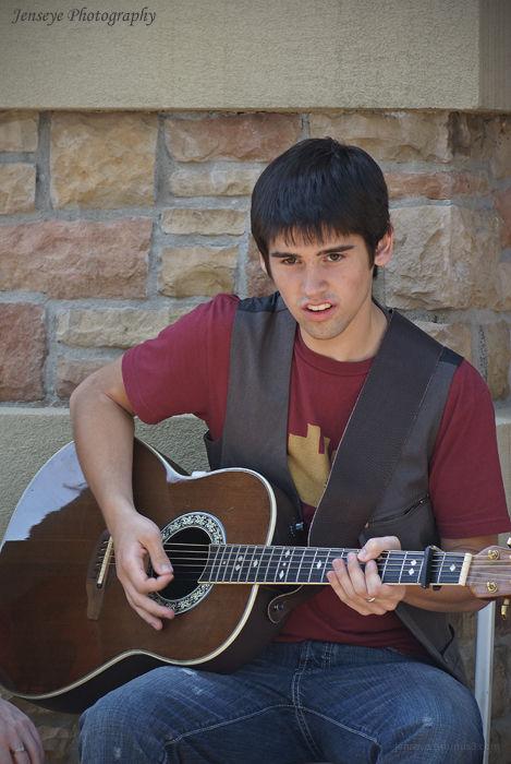 Portrait Teenanger Guitar Graduation Music