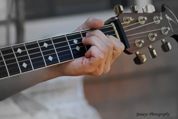 Guitar Hand Fingers Play