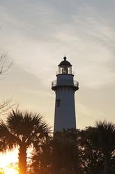 St Simons Lighthouse Georgia Sunrise