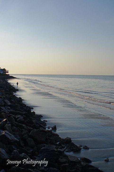 Landscape Beach Rock Sand Surf Jogger