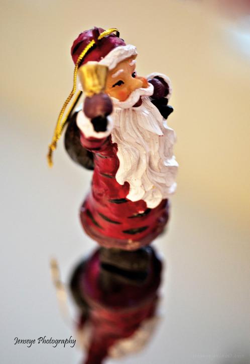 Santa Claus Ornament Christmas Reflection