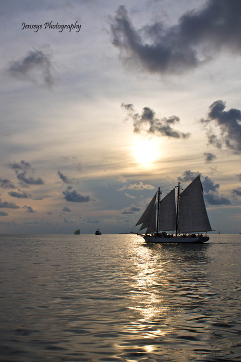 Sailboat Sunset Mallory Square Key West Florida