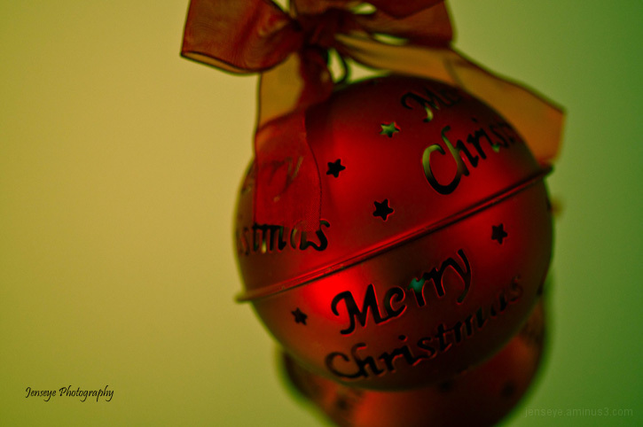 Merry Christmas Ornament Red Green