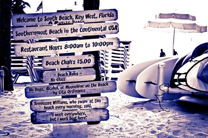 South Beach Key West Sign Florida