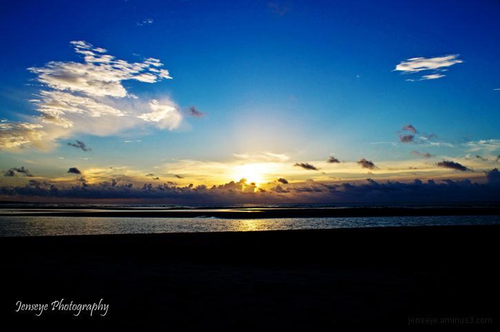 Landscape Sunrise St Simons Island Beach Clouds