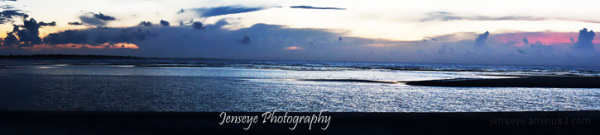St Simons Beach Sunrise East Beach Panorama