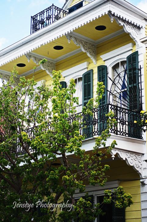 Yellow Balcony New Orleans Lousiana