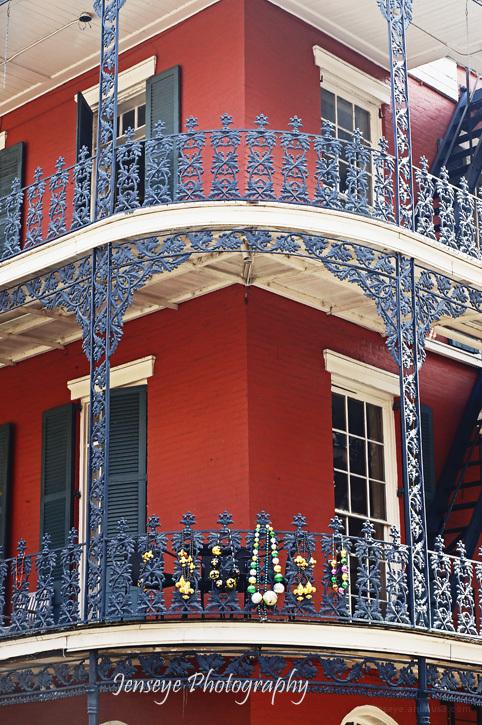 Red Balcony New Orleans Lousiana
