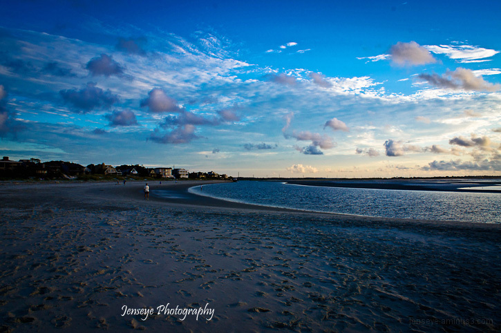 Landscape Beach Sunrise St Simons Island Georgia
