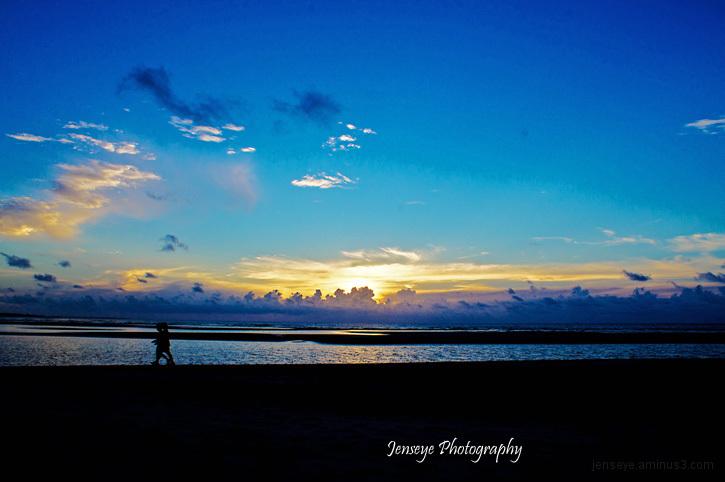 Landscape Beach Sunrise Walk People St Simons Isle