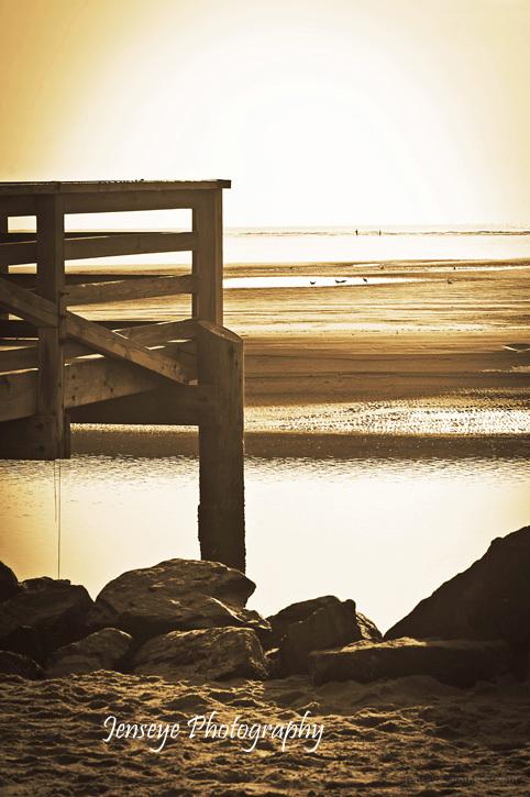 Landscape Goulds Inlet Pier St Simons Island GA