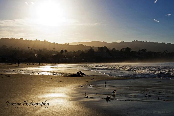 Laguna Main Beach Landscape California Morning Sun