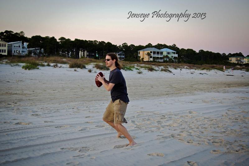 Football People Sunset Cape San Blas Florida