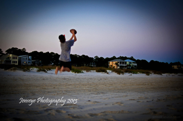 Football People Sunset Cape San Blas Florida
