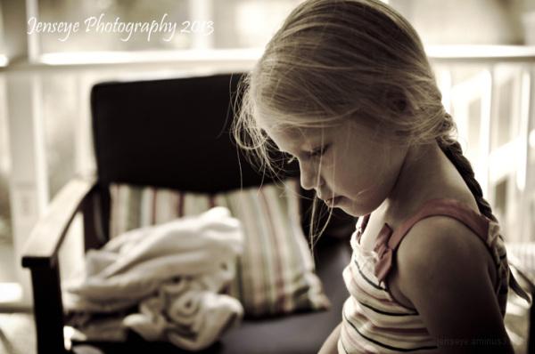 portrait child sunlight