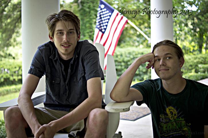 portrait men chair porch
