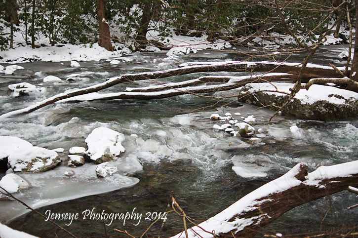 Snow Water Jakes Creek Trail Great Smoky Mountains
