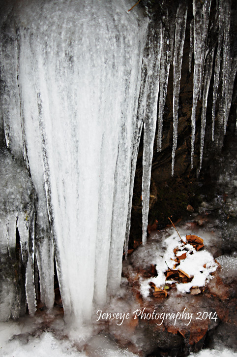 Landscape Great Smoky Mountains Icicles