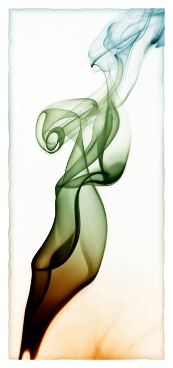 abstrakcyjny kontrabas z dymu