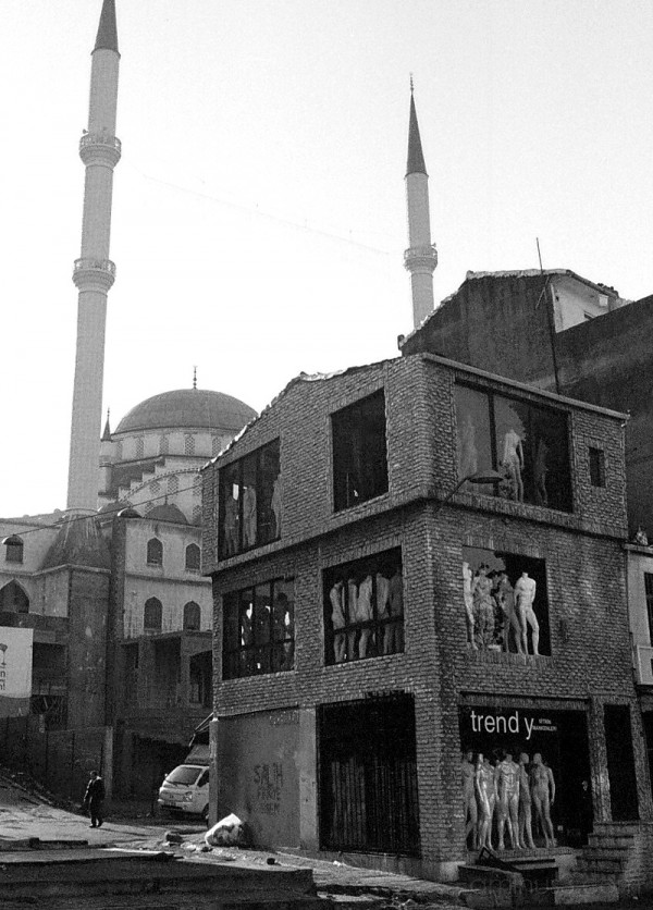 Mosque & mannequins, Dolapdere, Istanbul