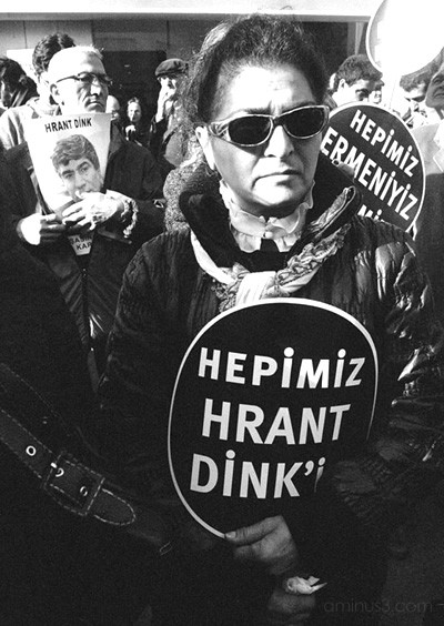 Woman at Hrant Dink's funeral, Istanbul