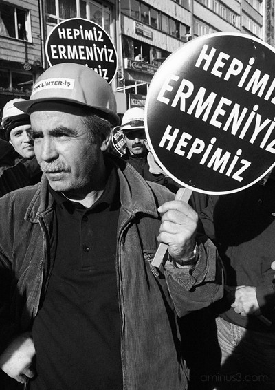Dock Workers at Hrant Dink's funeral, Istanbul