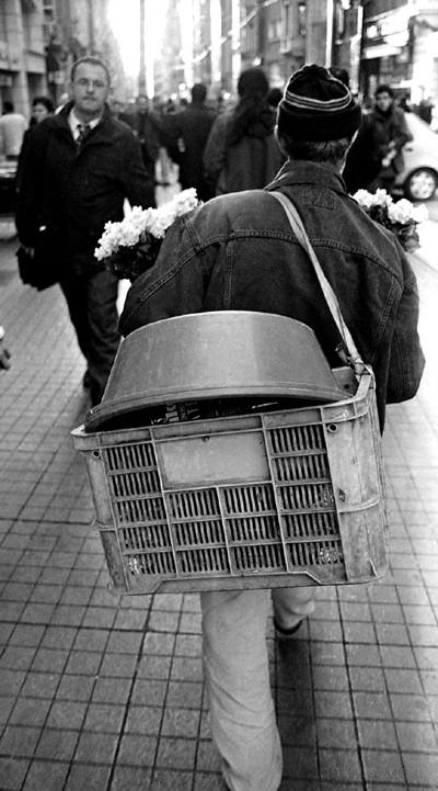 Flower seller, Istiklal Caddesi, Istanbul