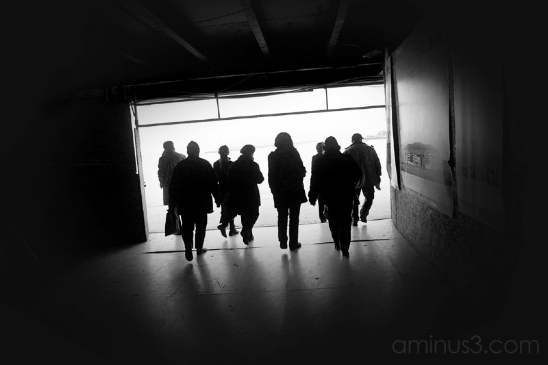 People running for the ferry, Kadakoy, Istanbul