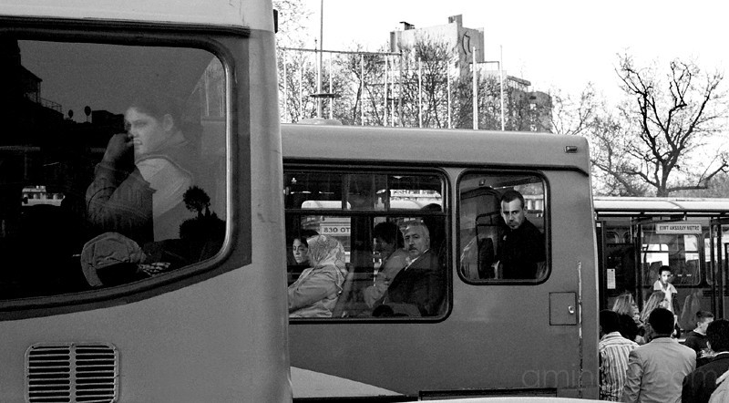 People on busses, Istanbul