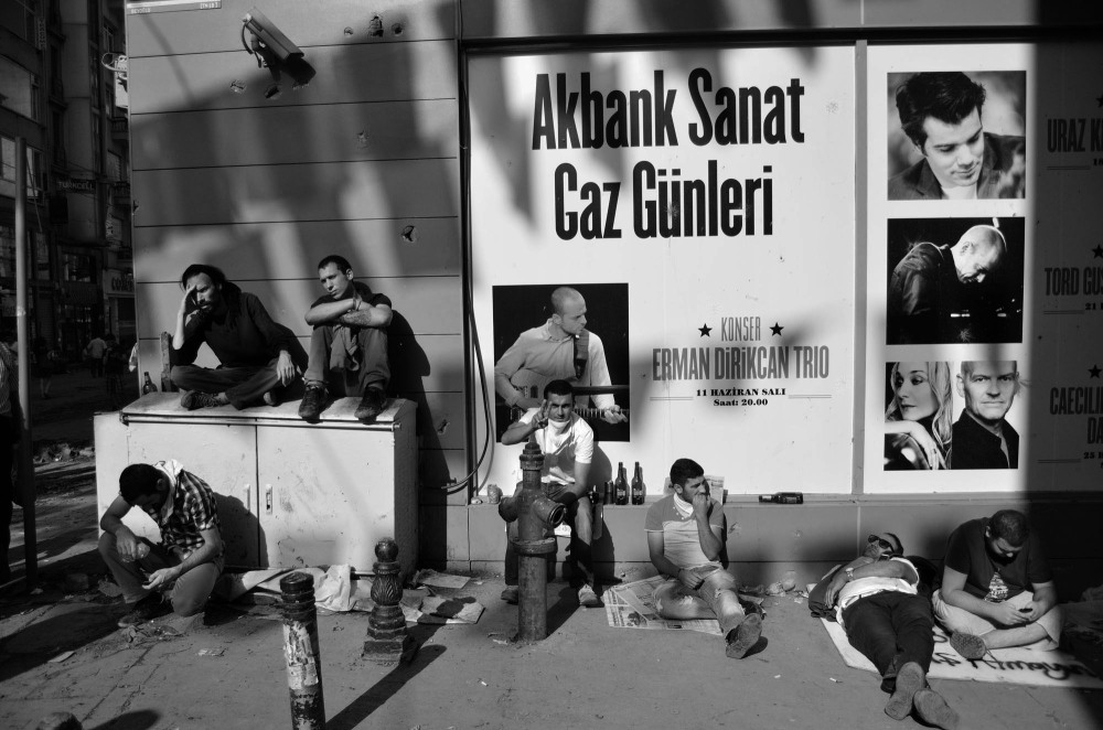 Taksim Gezi Park protesters rest early morning