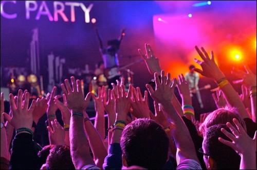 Bloc Party & audience