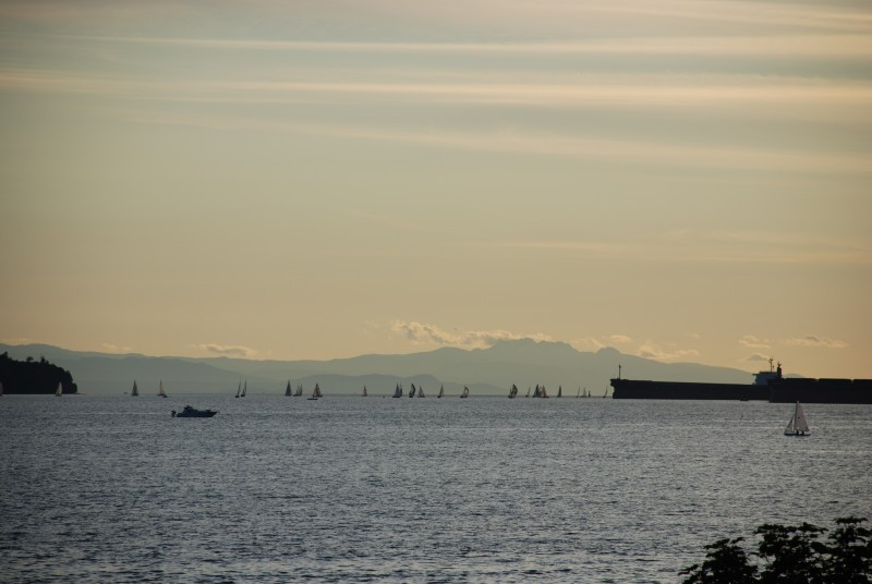 late summer, early evening, English Bay