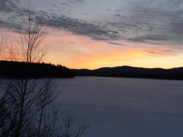 frozed lake chibougamau