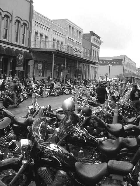 Bike week in Galveston Texas 2005