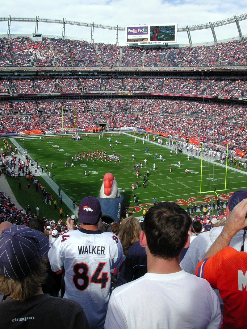 football game at Mile High stadium